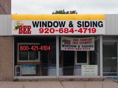 backlit awning