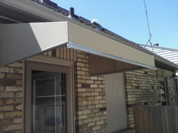 entrance canopy integrated gutter