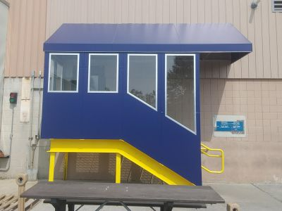 entrance canopy with safety glass