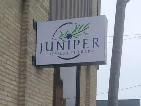 frameless projecting sign