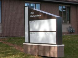 sign matched to building